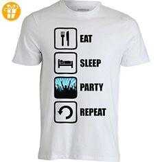 Eat Sleep Party Repeat Graphic Design Men's T-Shirt XX-Large (*Partner-Link)