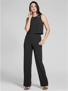 d12d3e93a2e GUESS by Marciano Women s Lace-Up Sleeveless Jumpsuit  jumpsuit   valentinesday  fashion