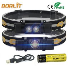 XM-L2 LED Headlamp 3-Mode 6000LM Headlight Micro USB Rechargeable Head Torch