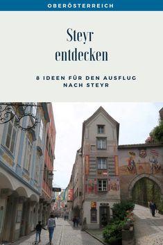 Auf Entdeckungs-Tour in Steyr: Tipps für die etwas andere Sehenswürdigkeiten-Tour. #Steyr #ÖsterreichSchönsteOrte #ÖsterreichUrlaub #ÖsterreichWandern #ÖsterreichUrlaubSommer #OberösterreichAusflug #Oberösterreich #ÖsterreichAusflugsziele #ÖsterreichAusflug #AusflügeÖsterreich #AusflügeinÖsterreich #AusflugszieleinÖsterreich Steyr, Day Trips, Old Town, Road Trip Destinations, Beautiful Places, Hiking, Tips