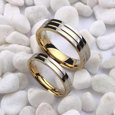 Cheap Tamaño 4 12.5 18 K Oro Blanco plateado anillo de alianzas de boda de tungsteno, anillo de pareja, anillo de compromiso, puede grabar (el precio es para un anillo), Compro Calidad Anillos directamente de los surtidores de China: Free Shipping Super Deal Ring Size 3-14 Titanium Woman Man's wedding Rings Couple Rings,can engraving  (price is for one