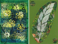 Cards made with Gelli® prints.