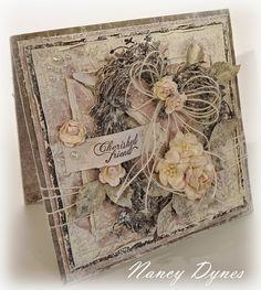 Tattered Treasures: Cherished Friend Card