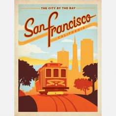 Travel poster - USA - SF - Anderson city posters