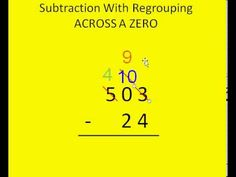 ▶ Subtraction With Regrouping Across Zero Tutorial - YouTube
