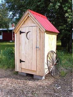 4x4 Outhouse Style Shed, Garden/outdoor/backyard/tool Storage, Diy Plans