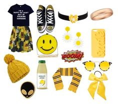 """""""Hufflepuff"""" by ssundelover ❤ liked on Polyvore featuring Alice by Temperley, Converse, Natasha, Kenneth Jay Lane, Stacks and Stones, Topshop, Krewe, Miss Selfridge, L. Erickson and Stoney Clover Lane"""