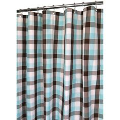 Watershed by Park B. Smith Dorset Plaid Fabric Shower Curtain,