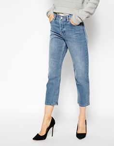Parallel Jeans in Mid Vintage Wash