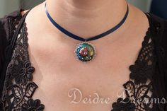 Goth Snow White Pendant Necklace  Original by DeidreDreams on Etsy, €30.95