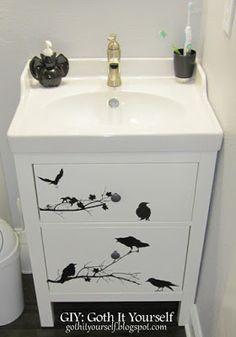 GIY: Goth It Yourself: Bathroom DIYs and Decor