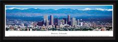 Denver Skyline Panoramic Picture, Colorado