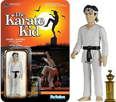 Funko Reaction: The Karate Kid - Karate Daniel Larusso Action Figure. 5 points of articulation!. Check out the other Karate Kid ReAction figures from Funko!. Collect them all!.