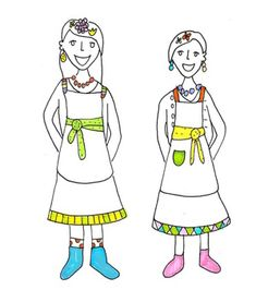 Annu and Unna Autti are sisters who live in a beautiful wooden house in a small town in the middle of Finland called Utti. They are Colournauts.