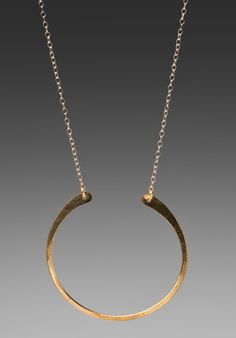 JEWELRY X REVOLVE kris nations Roswell Horseshoe Necklace in Brass at Revolve Clothing - Free Shipping!