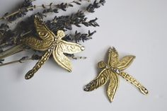 Madame Dragonfly bobby pins by Abbeysong on Etsy