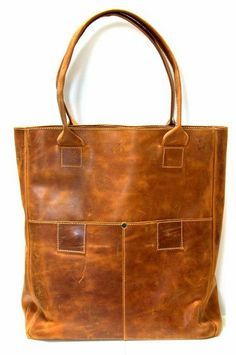 Yami Distressed Leather Tote by Raven + Lily. Made by workshop of women in Ethiopia vulnerable to labor trafficking.