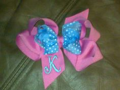 Custom made Boutique monogrammed Hairbow You by HairbowsNMore, $9.99