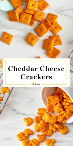 How To Make Cheddar Cheese Crackers - The Most Delecious Recipes Homemade Crackers, Homemade Cheese, Homemade Donuts, Cheddar Cheese Powder, Dips, How To Make Cheese, Food Processor Recipes, Snack Recipes, Baking Recipes