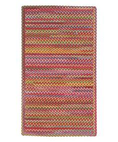 Red Migration Cross Wool-Blend Rug