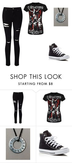 """Untitled #290"" by ootori5sos on Polyvore featuring Miss Selfridge and Converse"