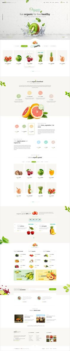 Naturix is a modern and elegant design #Photoshop template for #webdev stunning #organic store eCommerce websites download now➩
