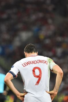 #EURO2016 Poland's forward Robert Lewandowski reacts after losing the Euro 2016 quarterfinal football match between Poland and Portugal at the Stade Velodrome...