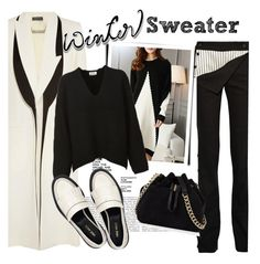 """""""Winter Sweater"""" by clotheshawg ❤ liked on Polyvore featuring Alexander McQueen, Monse, Acne Studios, Karen Millen and Nine West"""
