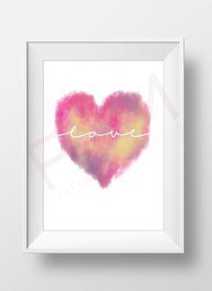 Motivational Print Inspirational Print Love Print by PaperYarnMoon
