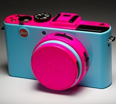ColorWare Custom Leica Camera-hot pink definitely makes a statement!