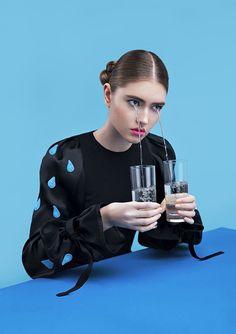 "Superior magazine surreal fashion editorial ""In every colour """