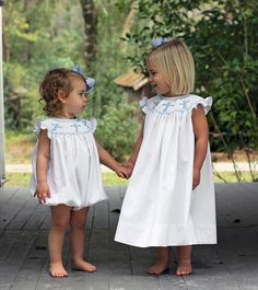 Smocked Cross Pique Bubble and Bishop Dress from Smocked Auctions