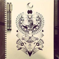 26 new ideas for tattoo sleeve designs symbols God Tattoos, Future Tattoos, Body Art Tattoos, Script Tattoos, Arabic Tattoos, Dragon Tattoos, Ankh Tattoo, Nefertiti Tattoo, Sanskrit Tattoo