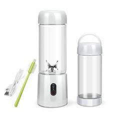 Personal Portable Blender with Travel Bottle, USB Rechargeable Single Served Smoothie Blender Six Blades in Superb Mixing Personal Size Mixer Fruit Juicer Blender for Shakes and Smoothies Juicing With A Blender, Mini Blender, Portable Blender, Smoothie Blender, Juice Blender, Travel Blender, Stainless Steel Blender, Mixer Juicer, Single Serve Blenders