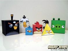Free printable angry birds paper toys