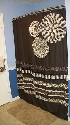 Towel Set Hand Bath Washcloth Bathroom Designer Fabric Ruffles Ruffled Neutral Chocolate Brown, Cream, Tan, Black Dots Stripes