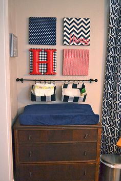 Henry's Nursery Reveal: A Preppy Navy And White Boy Bedroom