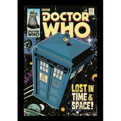 East Urban Home 'Doctor Who - Tardis Comic Cover' Framed Graphic Art Print Poster with Hanger