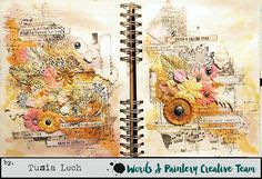 Art journal spread by Tusia Lech