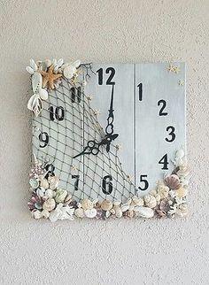 """Natural Sea shell Wall clock  """"Sea Time""""!"""