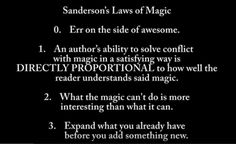 Snaderson's Laws of Magic