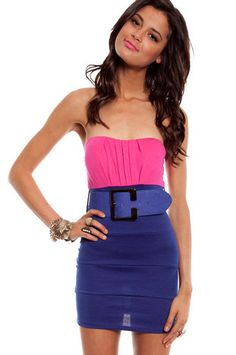 Two For One Belted Dress $46 at www.tobi.com