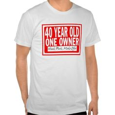 ==>>Big Save on          40 Year Old T-Shirt           40 Year Old T-Shirt We have the best promotion for you and if you are interested in the related item or need more information reviews from the x customer who are own of them before please follow the link to see fully reviewsThis Deals    ...Cleck Hot Deals >>> http://www.zazzle.com/40_year_old_t_shirt-235924714699911915?rf=238627982471231924&zbar=1&tc=terrest