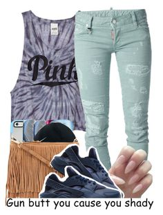 """"""""""" by clinne345 ❤ liked on Polyvore featuring мода, Victoria's Secret PINK, Dsquared2 и NIKE"""