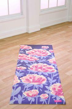blogilates, peony garden yoga mat.