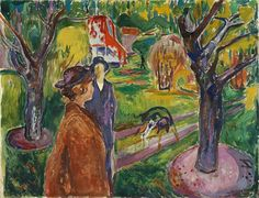 Two Women in the Garden 1926 / Oil on canvas / 100x 130 cm. Munch Museum