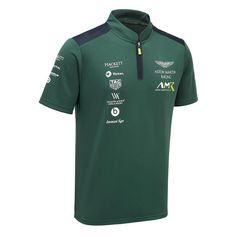 Aston Martin Racing Team Polo Shirt in Green Aston Martin, Red Bull, Mode Polo, Polo Fashion, Green Fashion, Fashion Men, Indian Groom Dress, Ferrari, Maserati