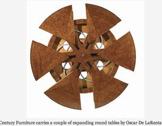 Expandable Round Dining Table fletcher capstan table, a mechanical expanding dining table