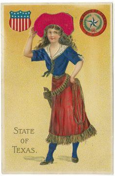 Texas Vintage Postcard