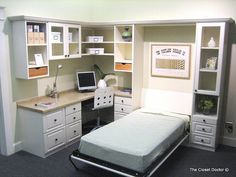 Home Office w/ Murphy Bed w/ Cabinet | Color - White Twin Si… | Flickr